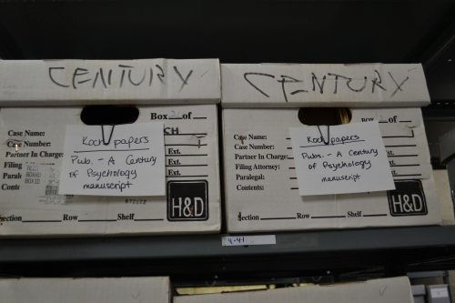 """Some boxes have clues on them – notice """"Century"""" written on the lid.  After evaluating the contents, I clipped the note on the front."""