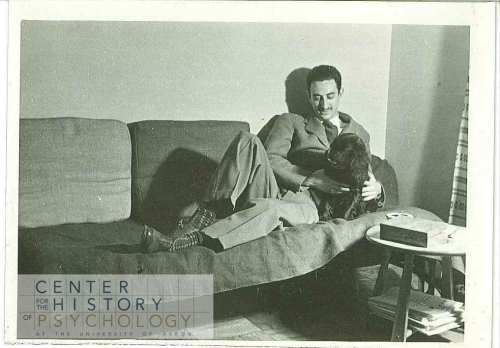 These 1940s photographs are not identified.  Is this Koch (around the age of 30) with his dog?