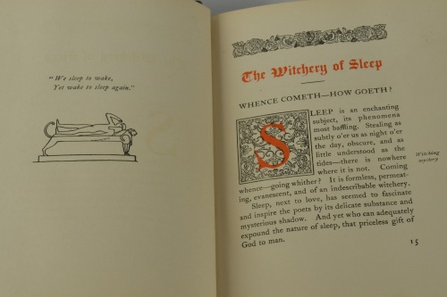 """The book uses drawings and poetry to address the """"enchanting subject"""" of sleep (page 15)."""