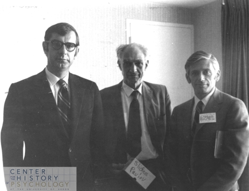 John Popplestone, W. Horsley Gantt, and Bernard Weiss at the annual APA Meeting (1969)
