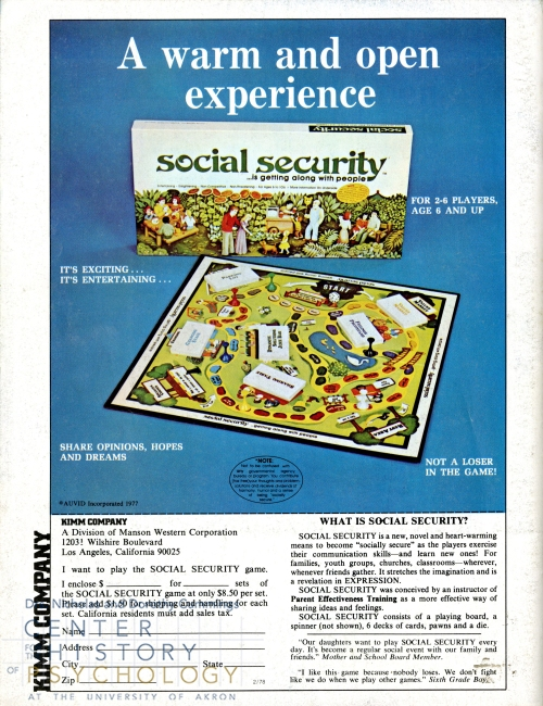 Social Security Advertisement 1970s