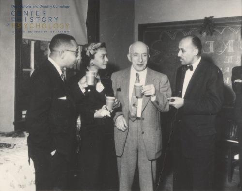 Kenneth B. Clark, Mamie Phipps Clark, Max Meenes, unidentified. 1957.