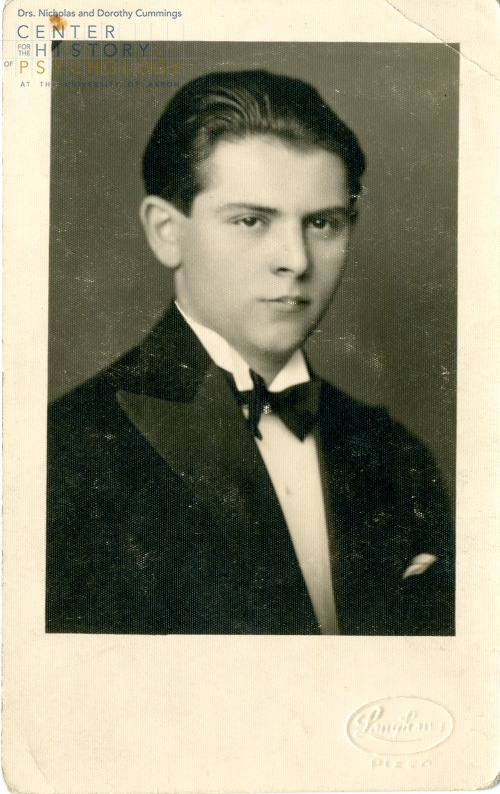 Brožek at age eighteen (June 1932). Box M4337, Folder13
