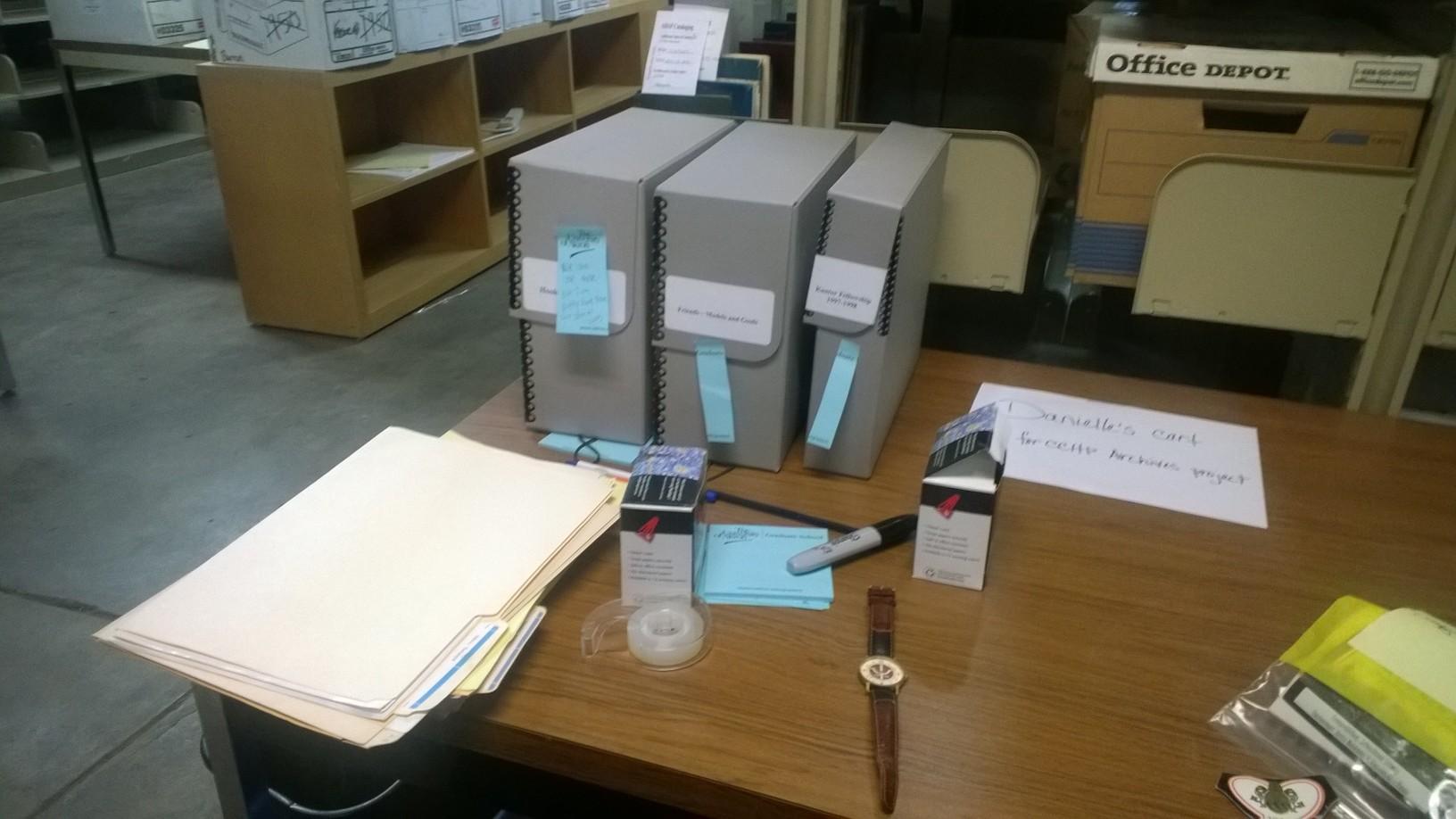 Danielle's workspace.