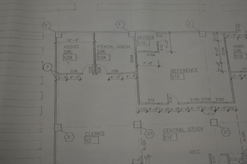 Early plans for the AHAP space in the Polsky Building.
